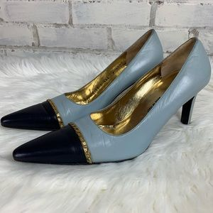 St. John | Nina Ice Blue Navy Heels | Size 8